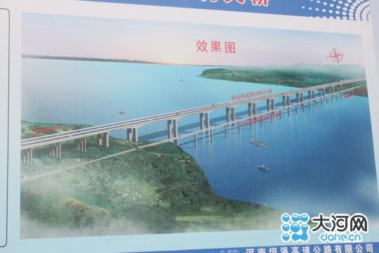 """垣渑高速公路""""绿地南村黄河大桥""""效果图"""