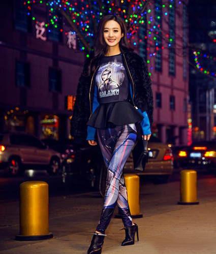 2016赵丽颖最新时尚街拍高清