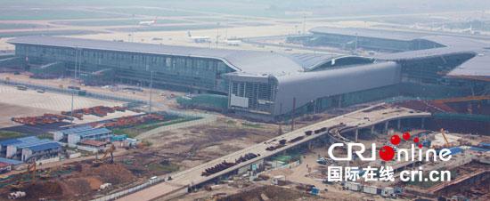 广州白云机场2号航站楼结构网架全面合拢