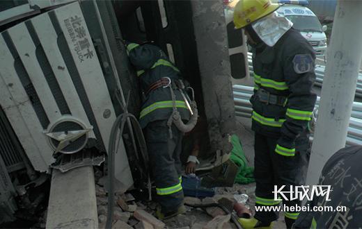 救援现场。图片由从衡水市公安消防提供