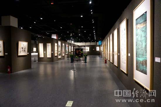 展厅一角。 中国经济网记者 苏琳摄。