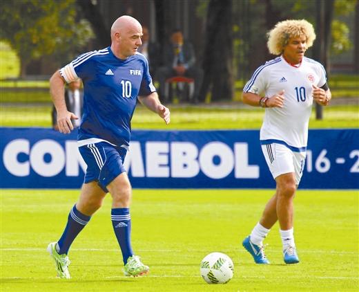 新任期内因凡蒂诺强调足球运动全球推广