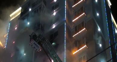 火灾现场 新疆消防供图