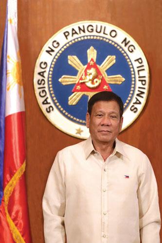 菲律宾总统杜特尔特像。