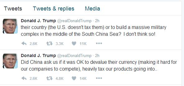 特朗普推特内容