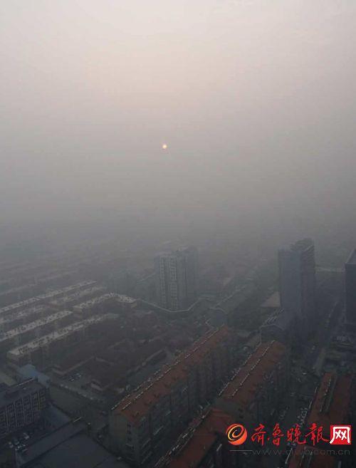 暗淡无光_实拍济南:持续的雾霾,让太阳黯淡无光.