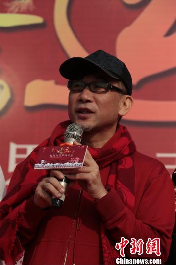 图为吴国平在中国(杭州)新年祈福走运大会现场。 何蒋勇 摄
