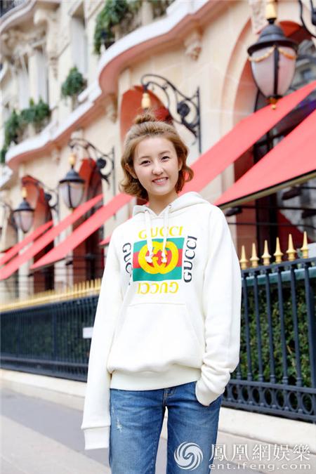 张子枫巴黎早春时尚街拍曝光  演绎青春活力无极限