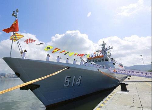 """资料图:056型反潜护卫舰""""六盘水"""""""