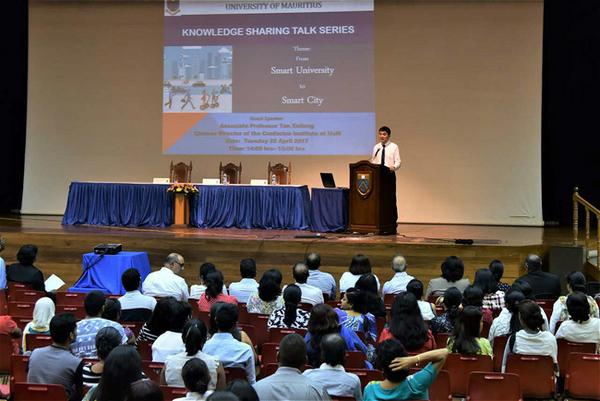 4月22日,毛里求斯孔子学院开班授课。