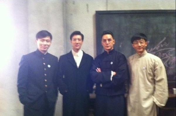 图左二左三分别为王力宏和吴彦祖