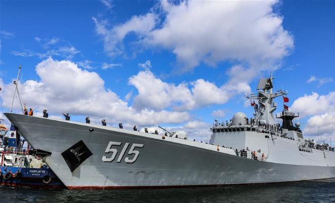 中国海军第二十九批护航编队滨州亮相波兰