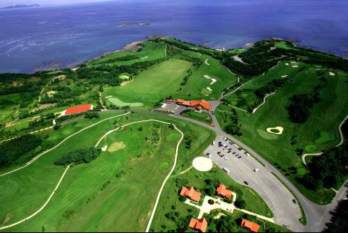 中日韩欧美企业高尔夫球赛 百位企业代表挥杆金石滩
