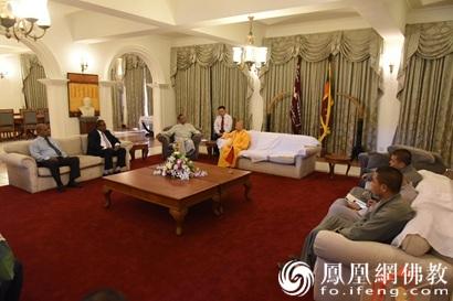 斯里兰卡议会卡鲁议长会见明生大和尚一行_斯里兰卡-佛教-两国-佛教界-友谊