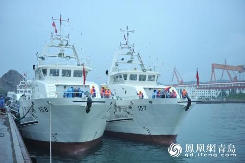 6艘国内新型远洋金枪鱼渔船青岛西海岸开启首航