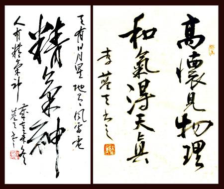 李蓝天书法作品2-中国书画名家李蓝天艺术人生访谈录
