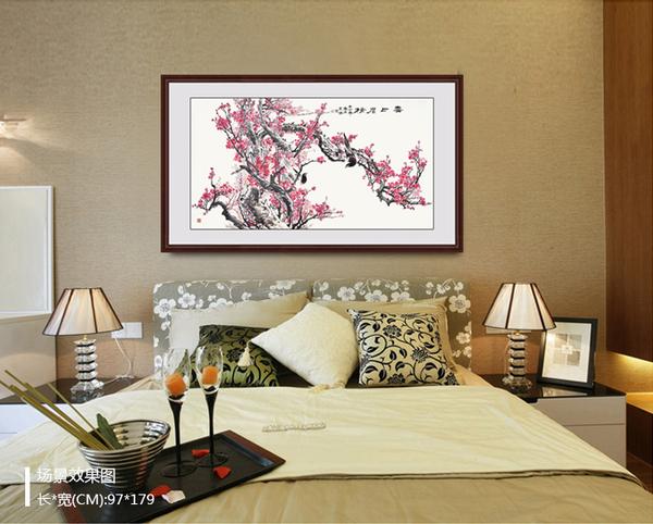 卧室床头装饰画 精美卧室挂画效果图展示