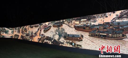 3D巨幅长卷《清明上河图》首展重庆再现昔日繁华(图)