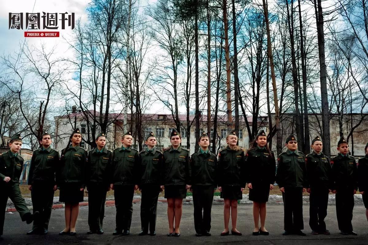 看望俄罗斯青少年军训营