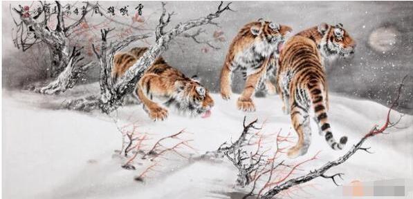 中国当代擅长画虎的画家 王建辉