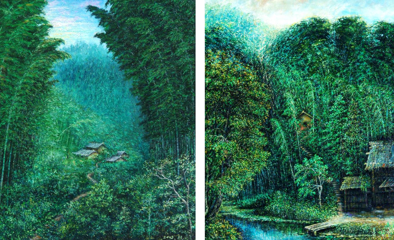 天上的风景画画五年级