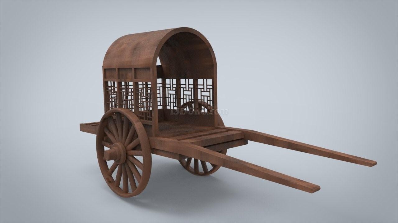 马车3d模型图