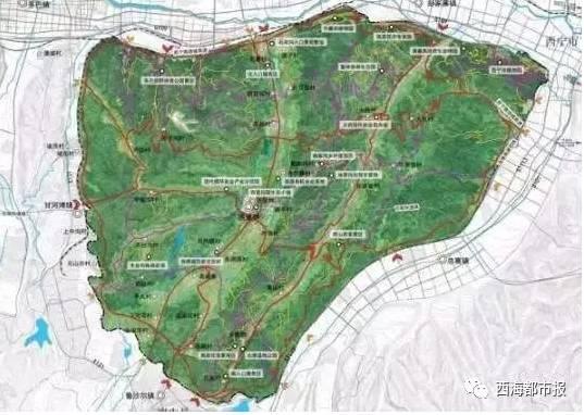 西宁门源路片区规划图
