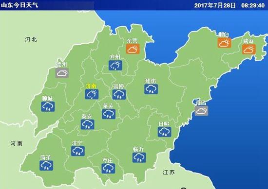 山东再发雷电黄色预警 南部地区仍有大或暴雨