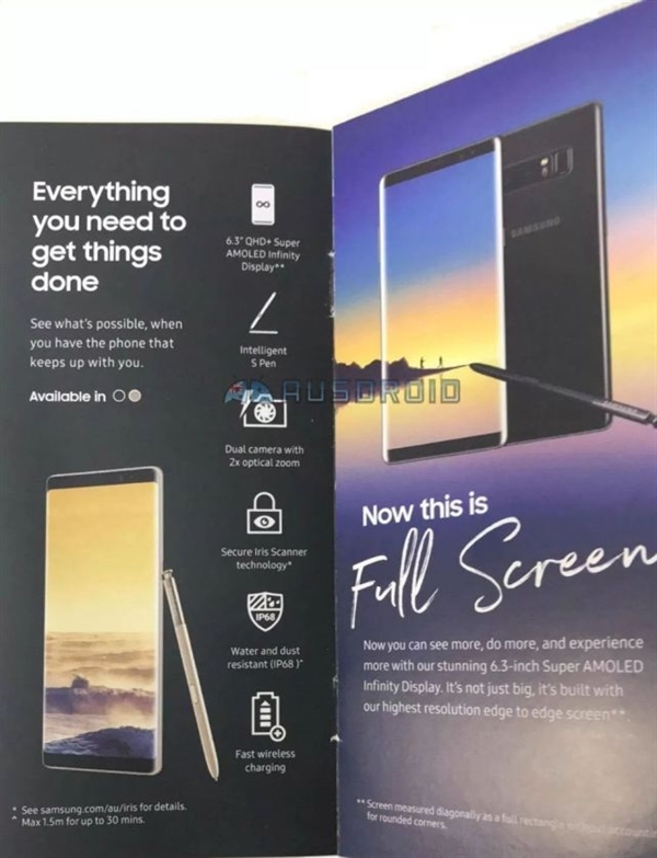 今晚发布!全面屏机皇Note 8完全曝光:三星拼了