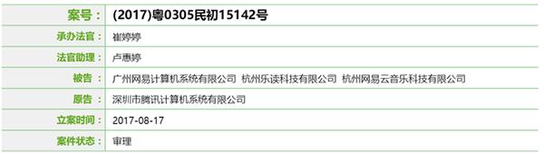 深圳法院网上诉讼平台披露的案件信息