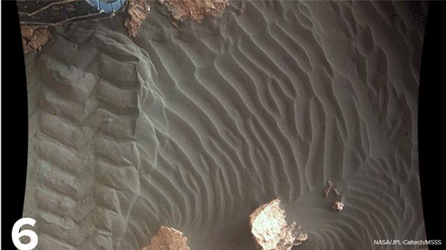 好奇号登陆火星都拍了哪些令人着迷的图片