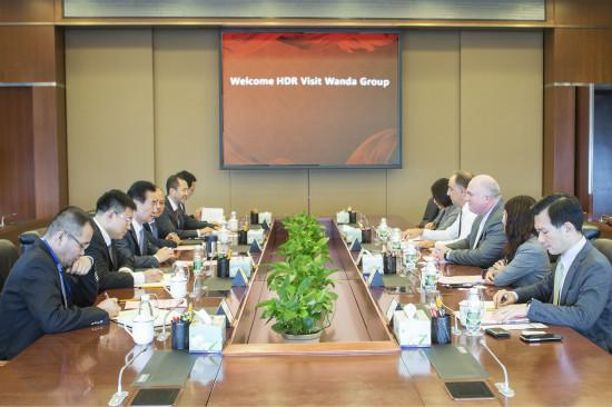 王健林董事长会见美国HDR建筑设计公司代表团