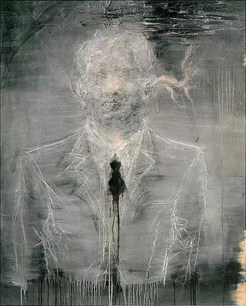 刘炜《我是谁?》 1999年布面油画150x130cm