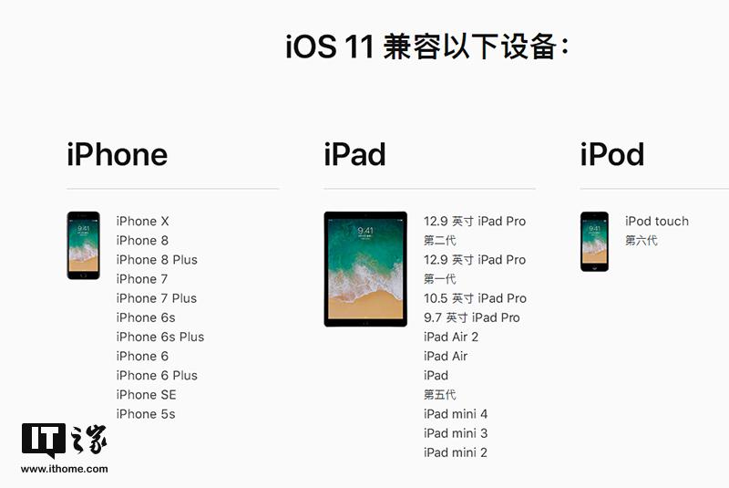苹果iOS11正式版更新内容大全:史上变动最大