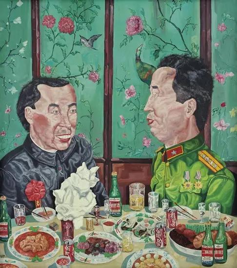 刘炜1992年作革命家庭系列:晚宴