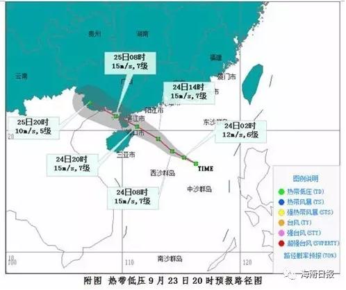 又有热带低压生成!预计24-25日在琼岛东部到粤西一带沿海登陆