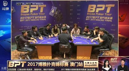BPT赛事直播画面