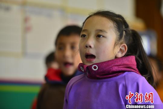 西藏小學生練習藏文書法正回歸傳統方式