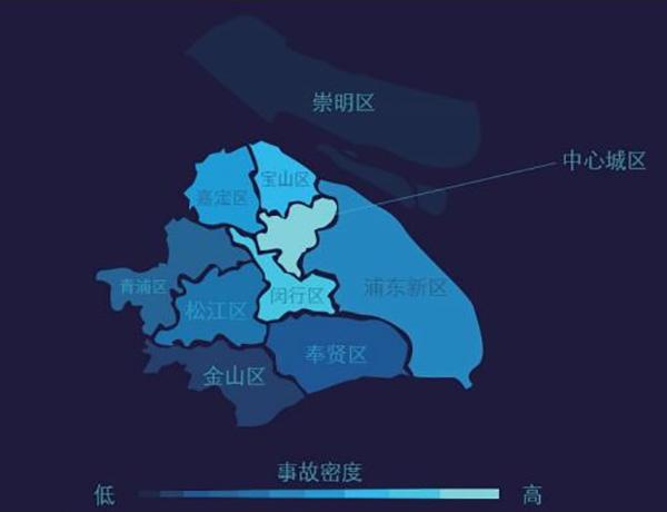 上海发布道路风险地图:早上8时事故多 女司机出险率高