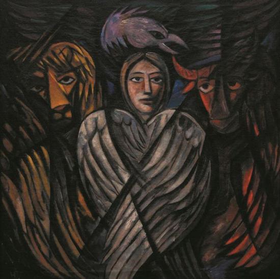 被指为赝品的娜塔莉娅·冈察洛娃作品《福音》图片:根特美术馆