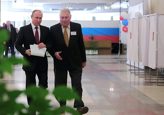 Russia's general election Mr Putin cast one vote to the scene