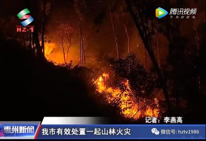 广东惠州疑清明祭祖引发山火 过火面积300亩
