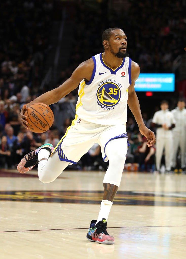 NBA官方展示杜兰特今年季后赛数据:场均得分排名第四