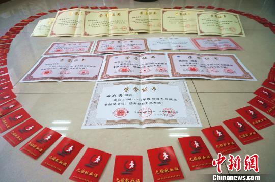 特殊的60岁生日礼物:老人20年献血184次