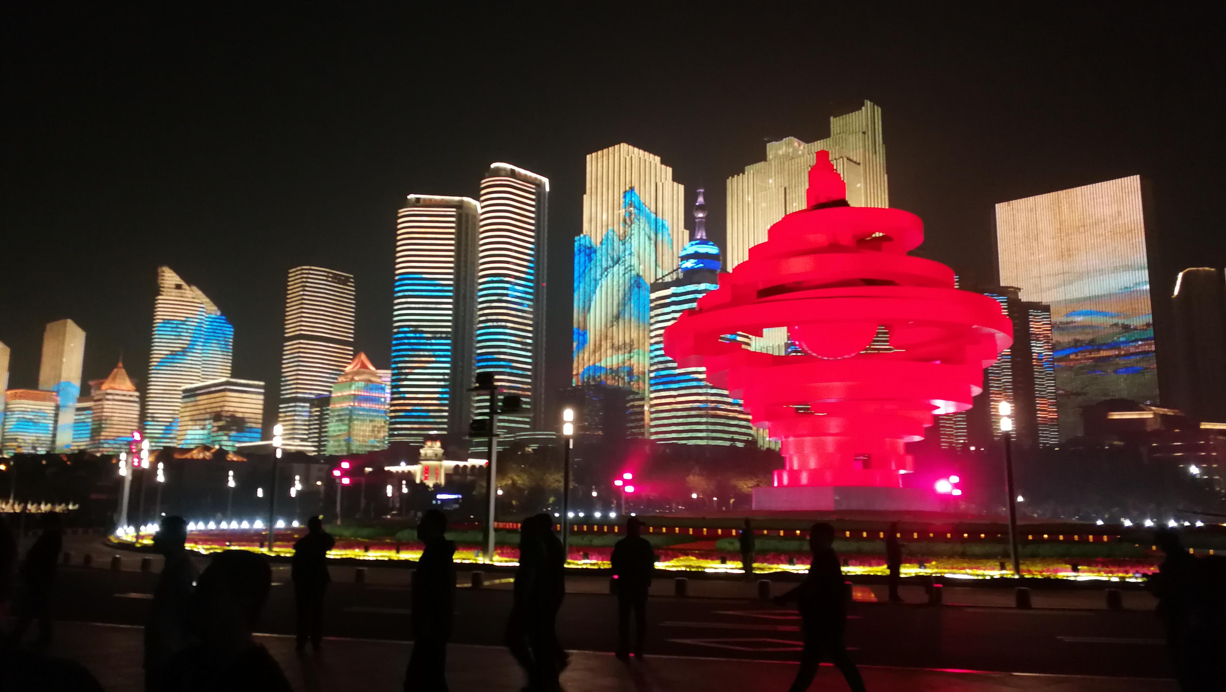 上合青岛峰会灯光焰火艺术表演 山东元素亮眼
