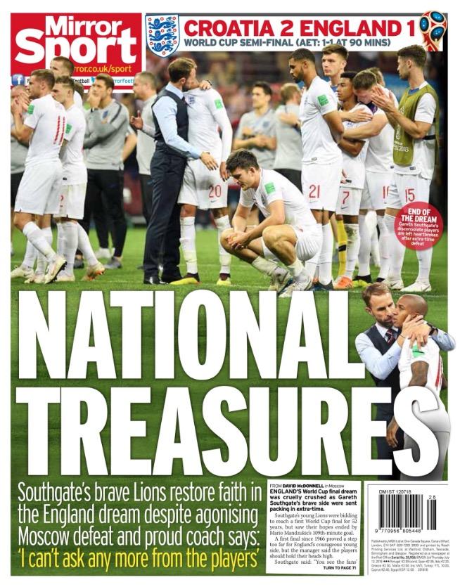 国家宝藏!英国各大媒体封面认可英格兰队表现