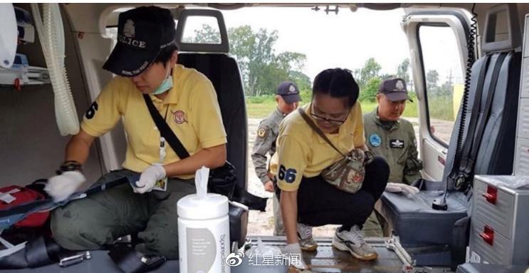 救援人员正在工作图据泰国媒体