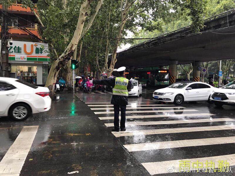 郑州交警启动恶劣天气应急预案