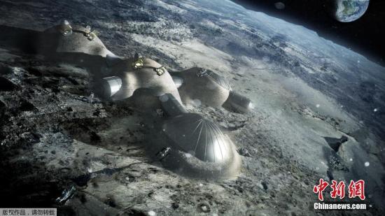 歐洲航天局發布3D打印月球基地效果圖