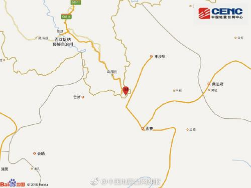云南西双版纳州勐腊县发生3.0级地震震源深度6千米